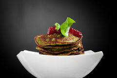 Spinach pancakes Royalty Free Stock Images