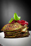 Spinach pancakes Royalty Free Stock Photos