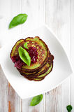 Spinach pancakes Stock Photos