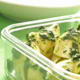 Spinach pasta. Close up of delicious spinach pasta Royalty Free Stock Images