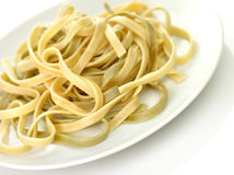 Spinach pasta Stock Image