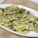 Spinach Pasta Royalty Free Stock Photography