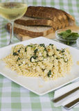 Spinach pasta Stock Images