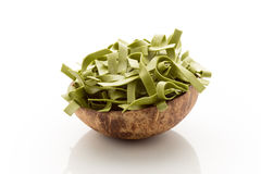 Spinach pasta. Royalty Free Stock Photo