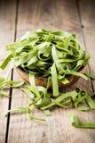 Spinach pasta Stock Photo