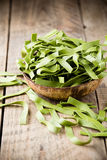 Spinach pasta. Royalty Free Stock Photography
