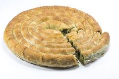 Spinach pastry, ıspanıklı börek. Dough pastry with Spinach, ıspanaklı börek Royalty Free Stock Image
