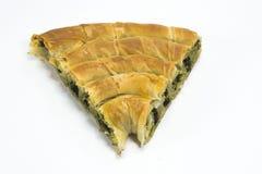 Spinach pastry, ıspanaklı börek. Dough pastry with Spinach, ıspanaklı börek Royalty Free Stock Photography