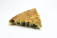 Spinach pastry, ıspanaklı börek. Dough pastry with Spinach, ıspanaklı börek Stock Photos