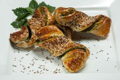 Spinach pastry Royalty Free Stock Images