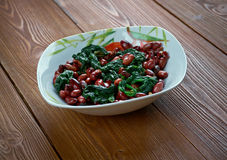 Spinach with Peanuts Stock Image