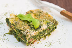 Spinach pie. Royalty Free Stock Photo