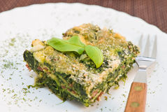 Spinach pie. Stock Photography