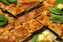 Spinach pie Royalty Free Stock Photos
