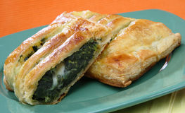 Spinach pie stock image