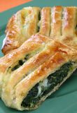 Spinach pie. Dessert on plate Royalty Free Stock Photo