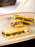 Spinach pie Stock Images