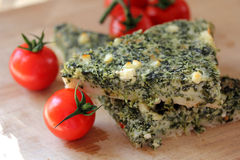 Spinach pie or quiche Royalty Free Stock Photography
