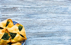 Spinach pie with ricotta cheese Stock Images