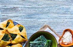 Spinach pie with ricotta cheese Stock Image