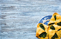 Spinach pie with ricotta cheese Royalty Free Stock Photography