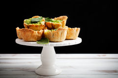 Spinach pie Stock Photos