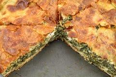 Spinach pie ( spanakopita ) Stock Image