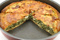 Spinach pie ( spanakopita ) Royalty Free Stock Photos