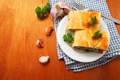 Spinach pie ( spanakopita ) Stock Photos