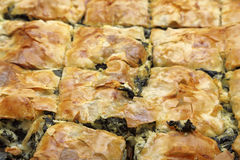 Spinach pie Stock Photography