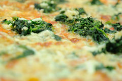 Spinach pizza Royalty Free Stock Photography