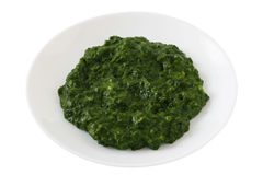 Spinach on a plate Stock Photos