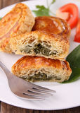 Spinach puff Stock Image