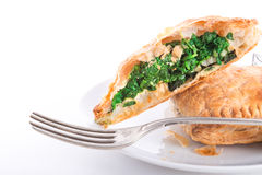 Spinach puff pastry Stock Photos