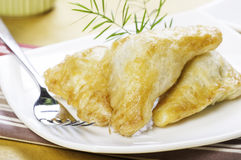 Spinach puff pastry ready to be serve Stock Images