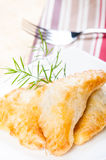 Spinach puff pastry ready to be serve Royalty Free Stock Photo