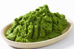 Spinach puree Stock Photography