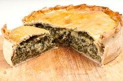 Spinach quiche Royalty Free Stock Photo