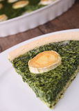 Spinach quiche Royalty Free Stock Images