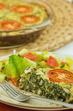 Spinach quiche Royalty Free Stock Image