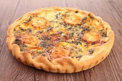 Spinach quiche Stock Images