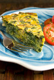 Spinach quiche Stock Photography