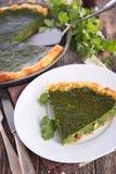 Spinach quiche Stock Photo