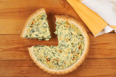 Spinach quiche florentine Stock Photography