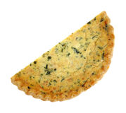 Spinach Quiche With Golden Crust Stock Image