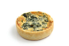 Spinach quiche pie Stock Images