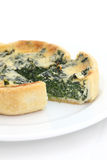 Spinach quiche pie Royalty Free Stock Image