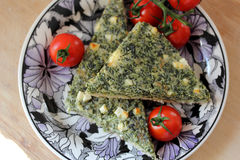 Spinach quiche or pie Stock Images