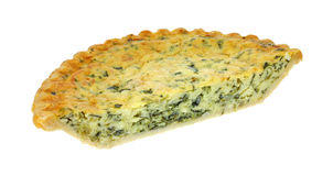 Spinach quiche pie half Stock Photos