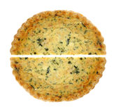 Spinach Quiche Pie Halves Stock Photos